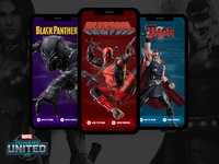 Marvel Powers United : Phone App Concept