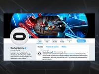 Oculus Gaming Twitter Graphic