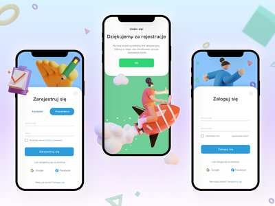 Mobile app concept - Sign in / Sign up pop-up figma 3d popup registration form login account form illustration sign in sign up mobile app design concept ux ui mobile