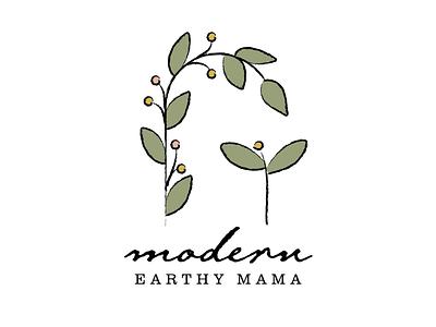 Modern Earthy Mama logo vector branding logo illustration