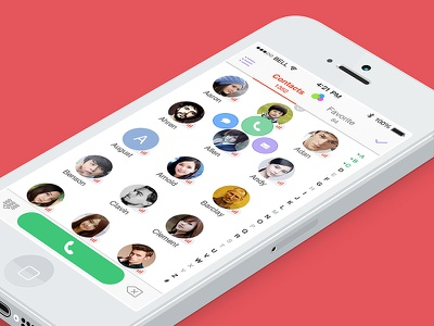 Oftentap:Intimacy Contacts Manager For ios7 ios7 contact app ui