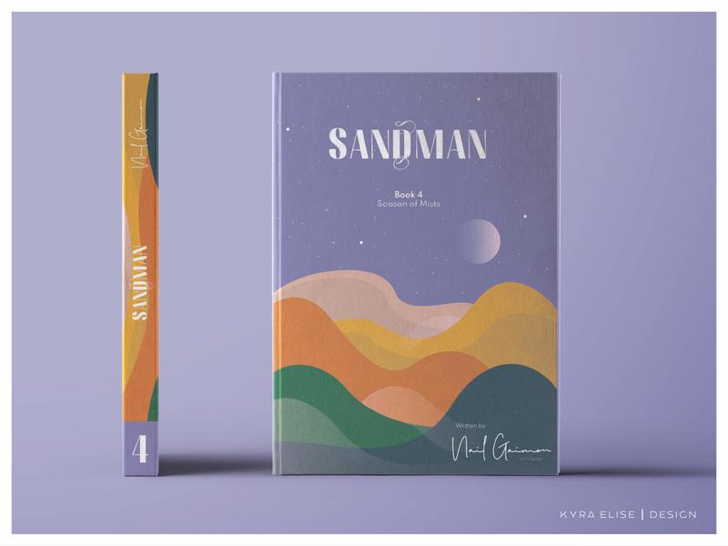 Sandman Vol 4 / Cover Art adobe inspo color logotype custom logotype spec work digitalart book design neil gaiman book designer logo illustration editorial design utah design