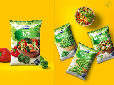 Packaging design, frozen vegetables / Premia Fozzy Group art direction designer package frozen frozen food package design packagedesign