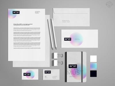 Logotype, corporate style / Event agency MOST style corporate identity corporate design logodesign logotype branding event branding