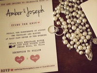Amber & Joseph Wedding Invitation