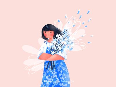 Summer Scent girlillustration lovely summertime illustration art illustration