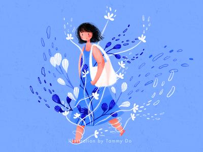 Walking With Seaweed illustrators water artworks underwater illustration underwater illustration