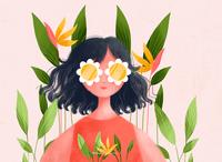 Summer Vibe art challenge girlillustration energetic summertime illustration art illustration