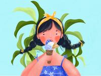 Summer Summer girlillustration illustrator summertime illustration art energetic youth summer illustrations illustration