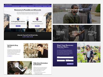 Addiction Culture hero addiction website typography tiles images design webdesign ui ux purple