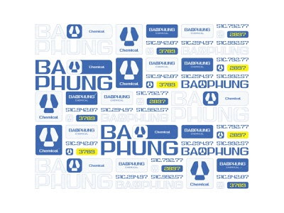 Baophung - Delivery Truck Ads fubocreative vector illustration letter icon logotype symbol mark character vietnam typography typeface chemical baophungchemical identity