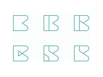 B Concept fubocreative typography ratio type icon logo symbol mark identity logotype chemical concept b