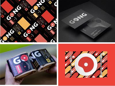 Gong Coffee - Brand identity fubo mark logotype identity branding