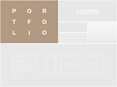 Fubo - Portfolio Design design illustration ratio symbol letter type logotype portfolio design fubocreative branding identity book portfolio