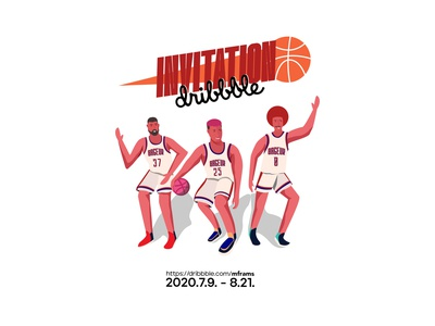 invitation adobe illustrator concept art character design digitalarts drawing dribbble invite artwork illustration freelance illustrator vector basketball