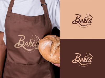 Baked co. Brand Identity bakery baker bakery logo branding design brand identity design logo branding