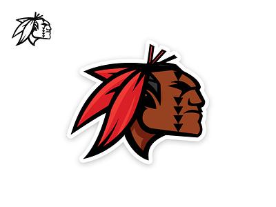 Kahuku Red Raider Mascot design logo illustration