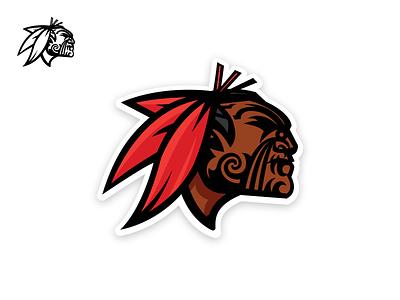 Kahuku Mascot Ta Moko logo illustration