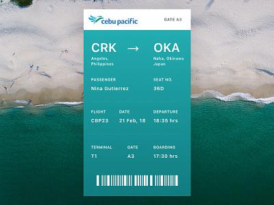 Daily Ui #24 - Boarding Pass ui boarding pass daily ui