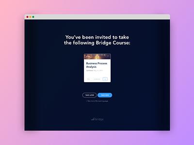 Course Invite learning management system ux invite bridge