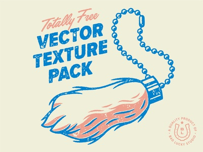 Totally Free Vector Texture Pack charm vintage retro bad luck good luck vector chain keychain rabbit foot lucky free luck design texture illustration