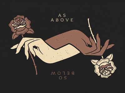 As Above, So Below Poster dark floral roses hands poster