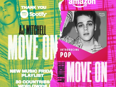 Move On - Thank You music radio tear paper texture
