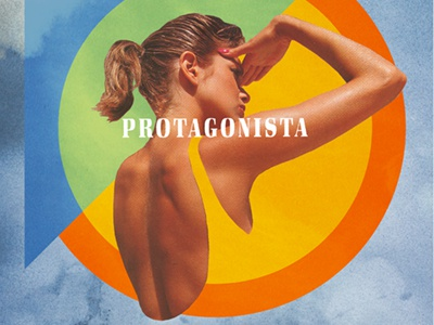 Protagonista collage digital collage typography