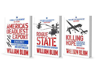 William Blum Series book cover politics typography