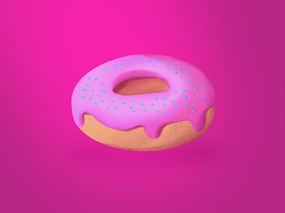 Go nuts for Doughnuts! 3d vector illustration design art
