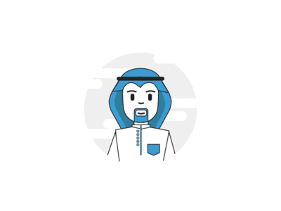 character arab 01 design after web motion animation flat ui ux effects gif graphic .aep