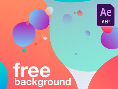 background free Animation Template 01 design after motion cloud animation flat ui ux effects gif graphic .aep