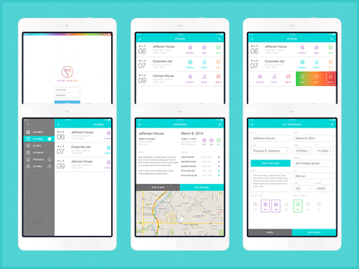 Painting App – iPad Interface