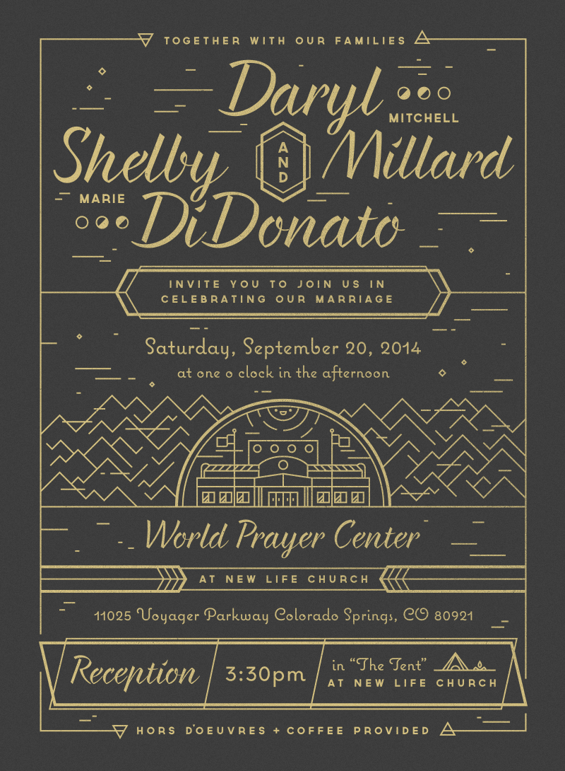 Millard wedding invitation full