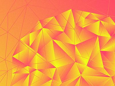 Poly Gone Wild triangles low poly geometric gradients polygon