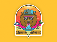Summer Bear Sticker