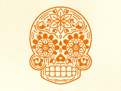 Day of the Dead Skull tattoo vector noise day of the dead skull flower minimal pedal heart illustration teeth