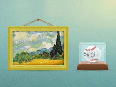 Icons art baseball
