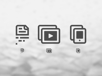 Resource Hub Icons ui icons iconography virtualization mobile collaboration video collaboration phone video play document data minimal flat web iphone