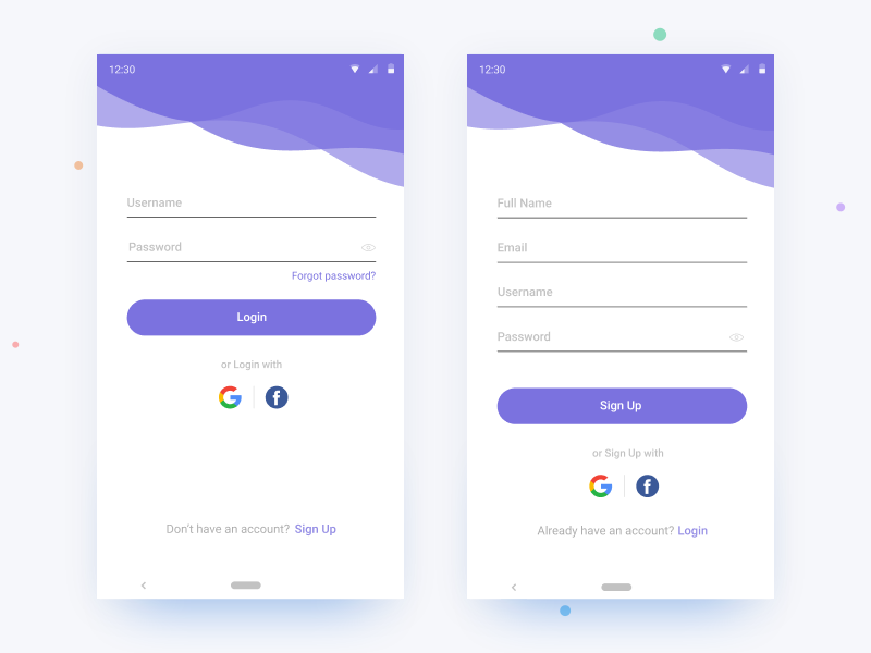 Login Screen - UI  #001 clean ui flat branding design app mobile signup login login page