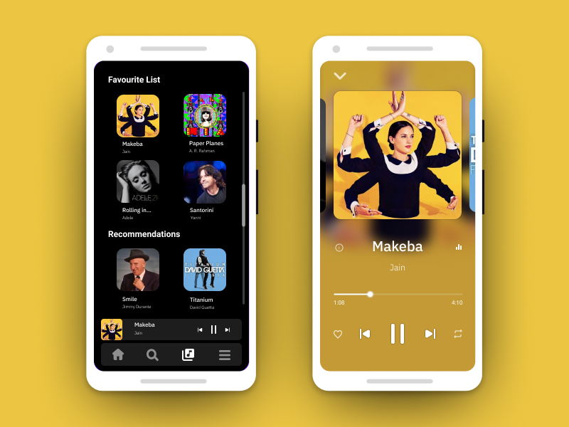 Music Player - UI #003 clean app player music mobile design ui