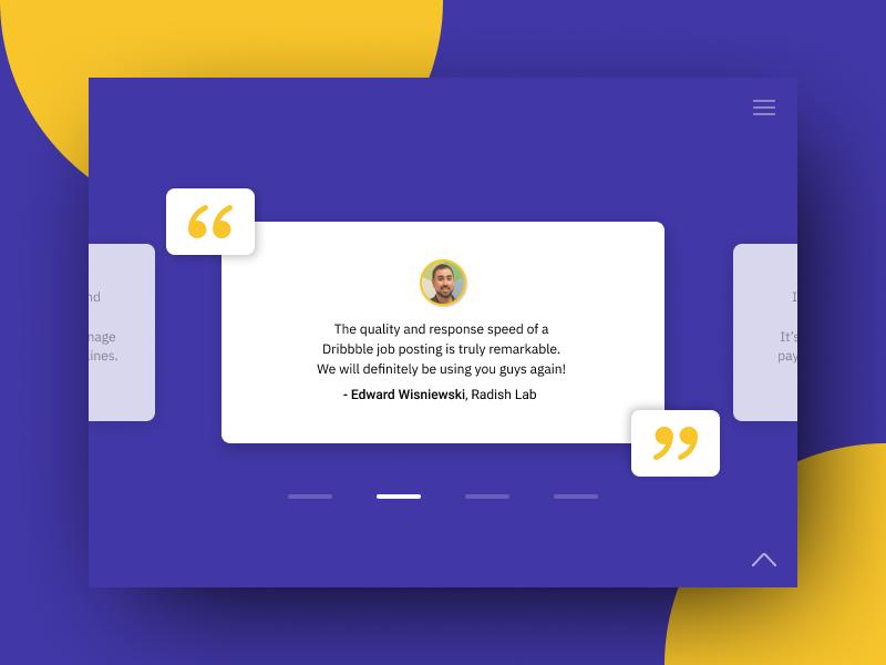 Testimonial Page - UI #004 clean website page testimonial design ui