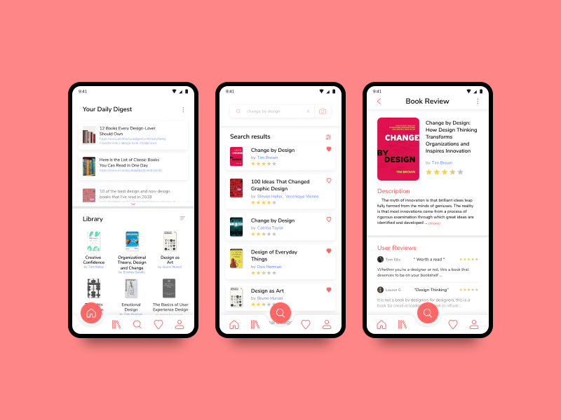 Book Review App - UI #009 by Napoleon on Dribbble