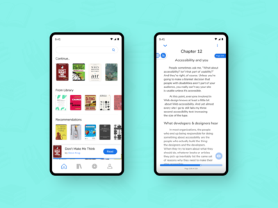 eBook Reader - Home Screen & Reading Page - UI #014