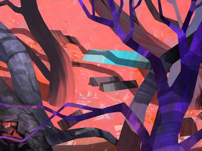 Forest forest art design illustration