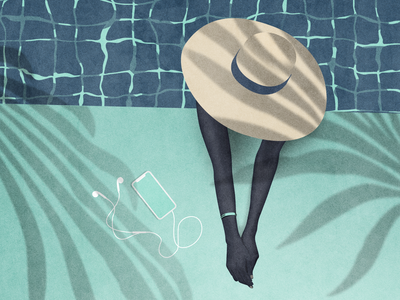 Pool day vector illustration