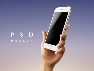 Female Hand with iPhone 6 PSD Mockup
