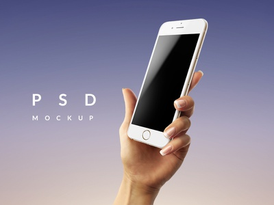Female Hand with iPhone 6 PSD Mockup iphone mockup smartphone psd phone in hand mockup app iphone6 smartobject hand with phone phone iphone mockup