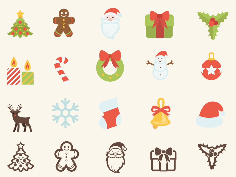 Xmas Free Icons SVG/AI/CSH gingerbread christmas bell mistletoe christmas sock deer csh ai svg christmas icons santa hat free icons christmas tree
