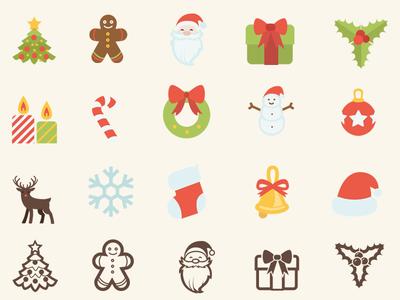 Xmas Free Icons SVG/AI/CSH